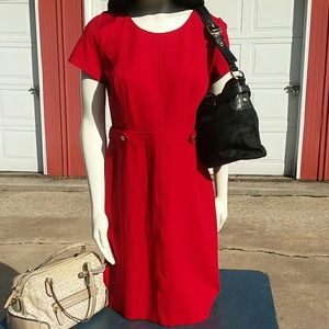 Talbots Red Dress, EUC, Size 8, Beautifully Made